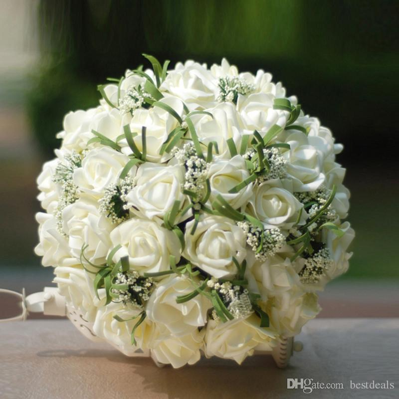 artificial vintage wedding bouquets for bride silk hand holding rh dhgate com