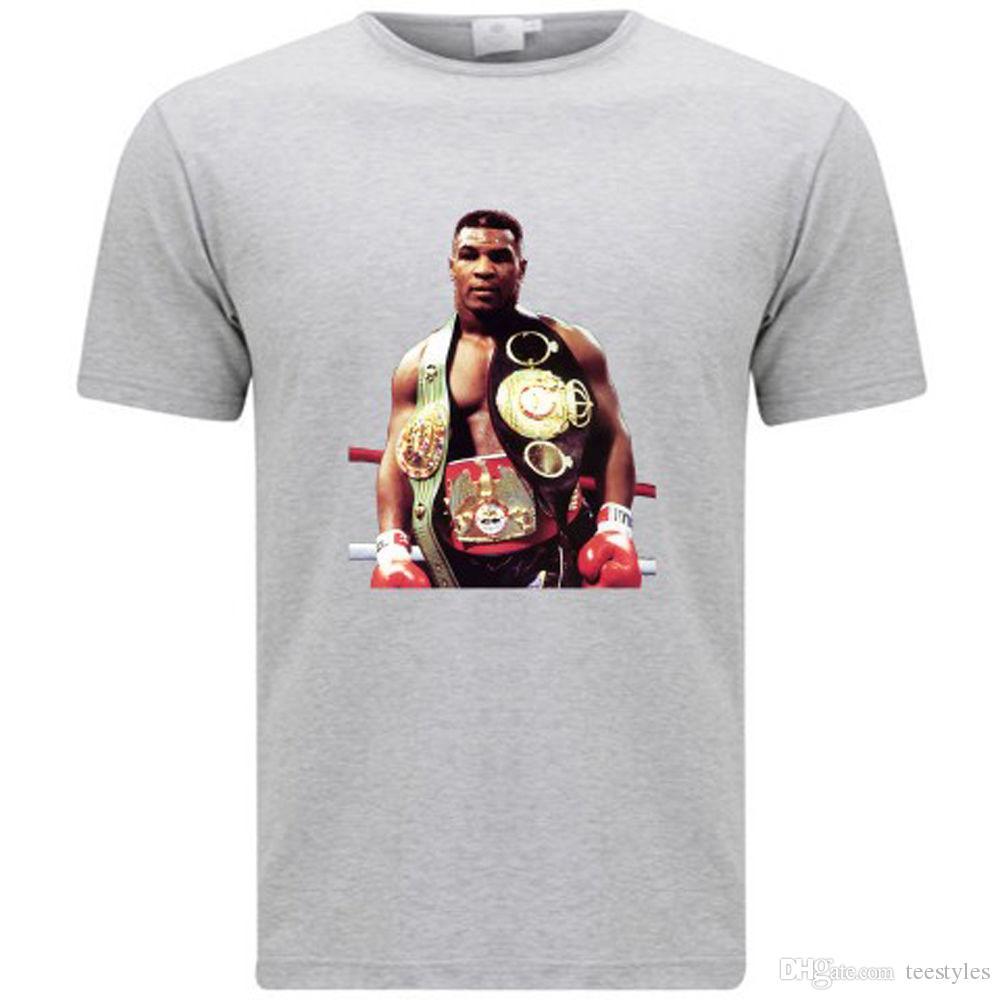 348b0c6e7eecc3 New Iron Mike Tyson Boxing Support Dropship Icon Men S Grey T Shirt Size S  3Xl T Shirt Men Rock Short Sleeve Crewneck Cotton Plus Size Party T Shirts  With ...