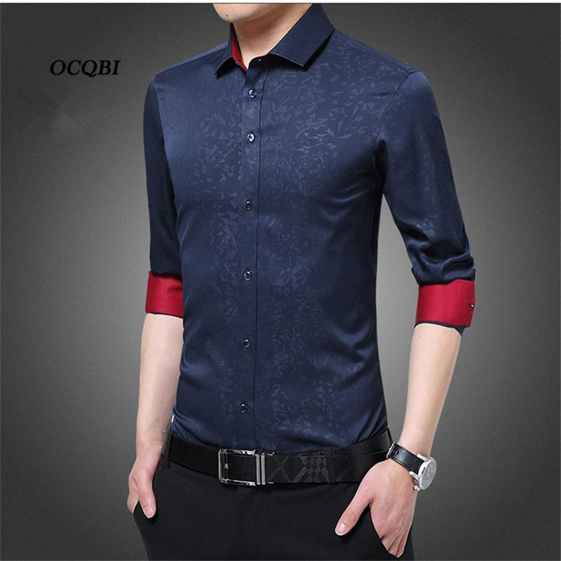 438424fd31f 2019 Plus Size 4XL 5XL 2018 Summer Korean Style Print Smart Casual Dress  Shirt Fashion Men Slim Clothes From Blueberry07