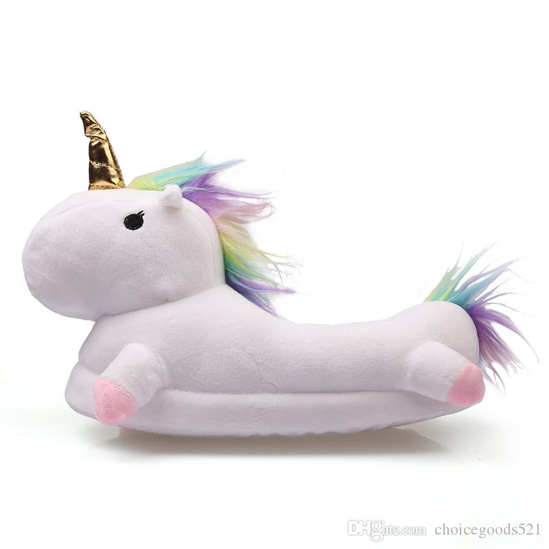 89932c6450e Soft Plush Unicorn Slippers Winter Warm Cotton Slippers Adult Shoes For  Chausson Licorne Fit 23cm 26cm Foot Canada 2019 From Choicegoods521
