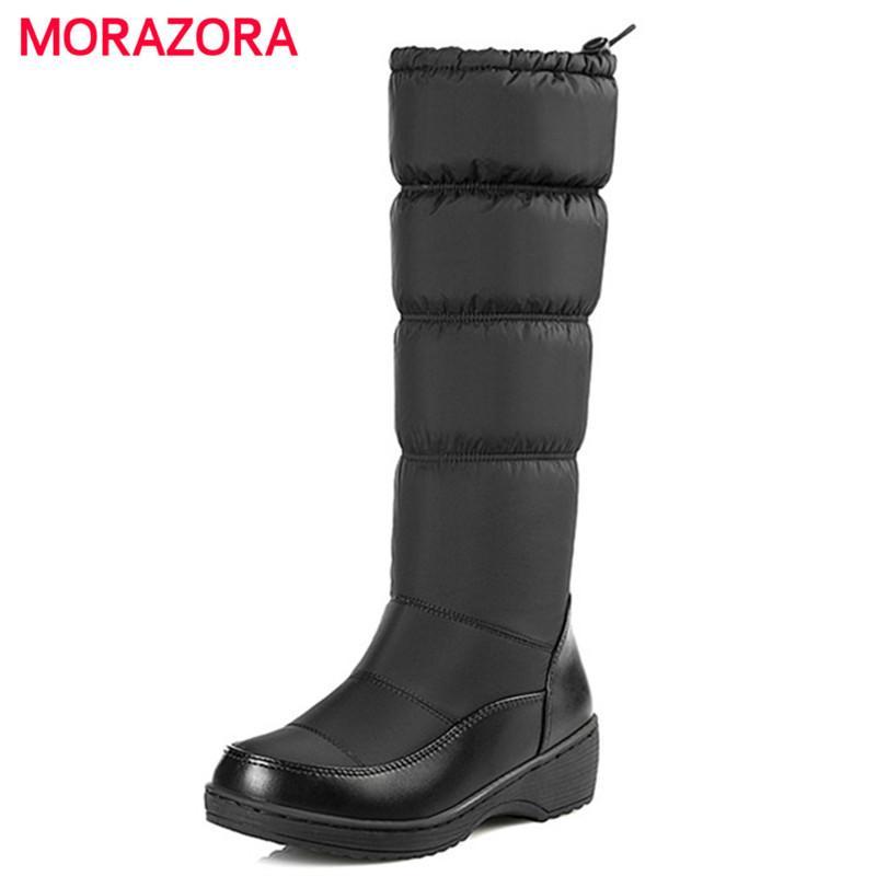 mollet d'hiver 35 2019 bottes chaud 44 New MORAZORA femme au taille mode de bottes épaisse fourrure mi Plus 35 Bottes garder neige taille 44 2018 Nmn0wv8O