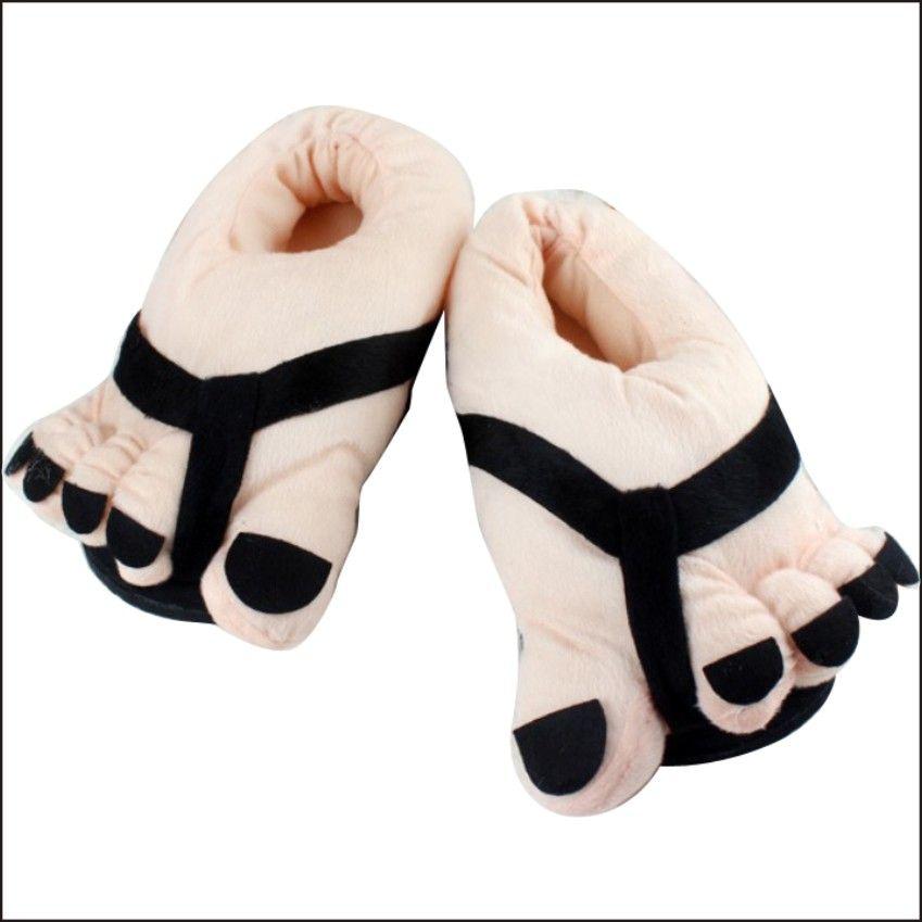 liangsha house shoes cute happy big feet style giant toe footwear
