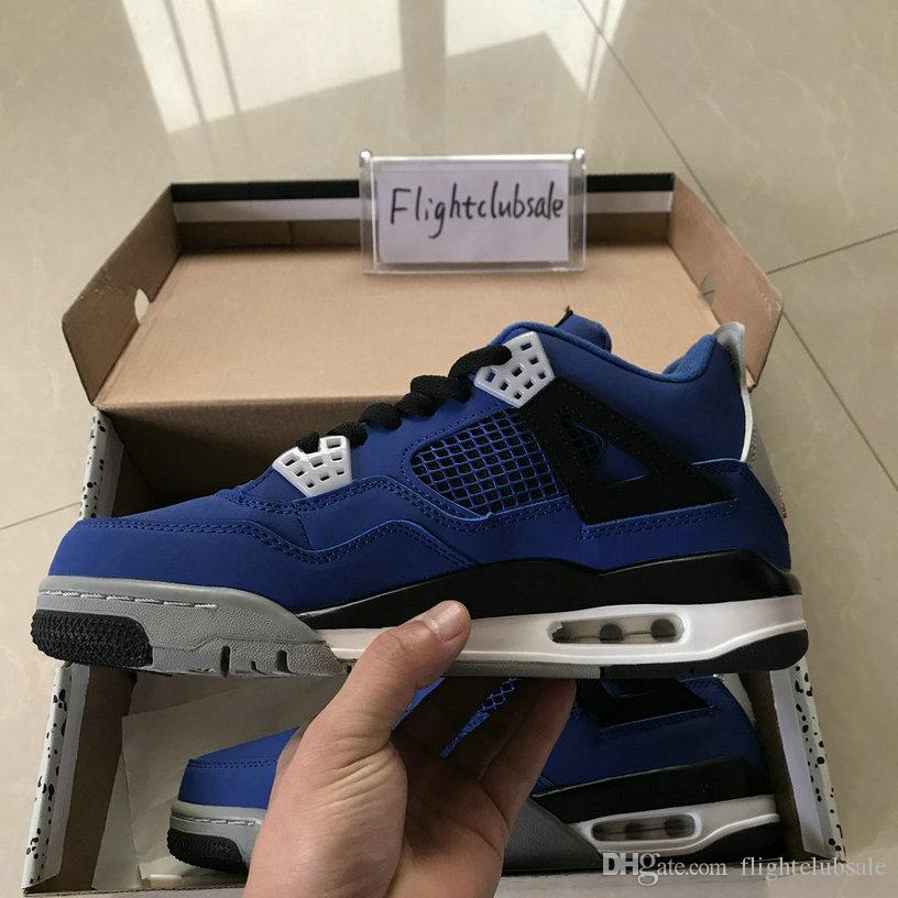 With Box 4 Eminem Encore Pure Money White Cement Royalty Bred Toro Bravo Thunder Green Glow Shoes 4s Mens Basketball Sneakers