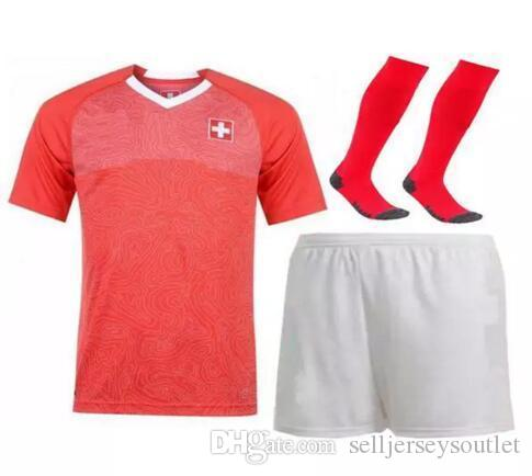 4ae64d7bb Xams Designer Men Kit Sock World Cup Home Soccer Jersey Switzerland ...