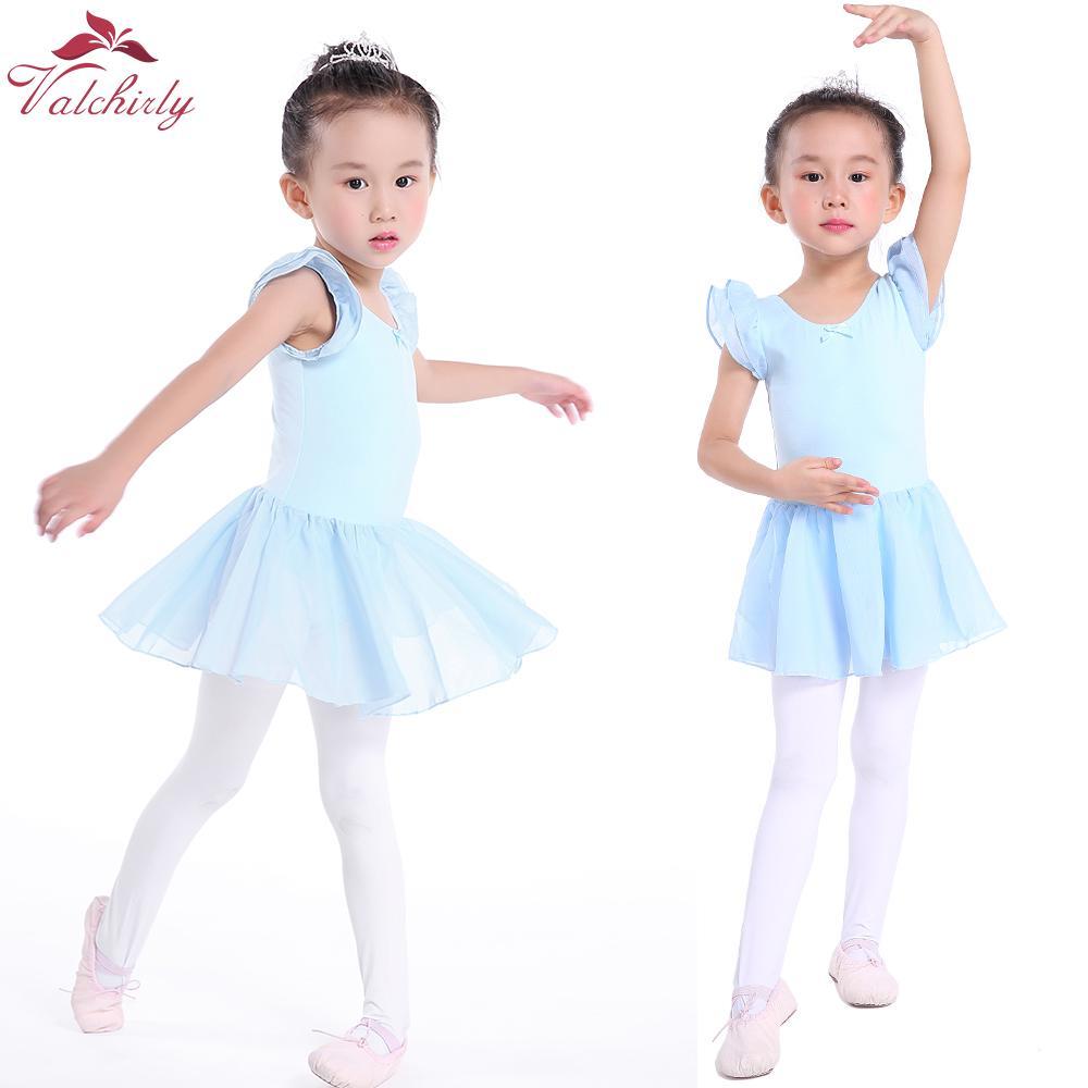 88e15585a3 Compre Azul Bonito Meninas Ballet Dress Crianças Collant Tutu Trajes De  Desgaste De Dança De Ginástica Ballet Leotards Para A Menina Bailarina De  Salom