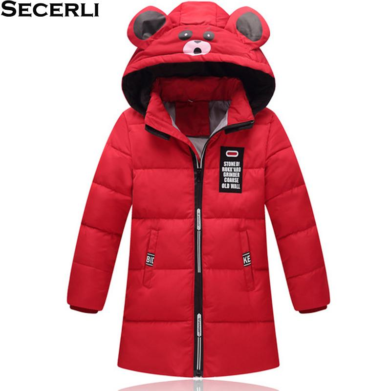 f1dc8b525180 2018 New White Duck Down Girls Boys Winter Jacket Hooded Warm ...