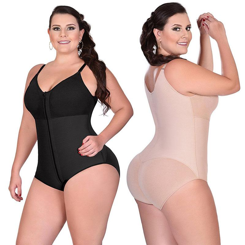 e1fbb52b5d8c1 2019 Women Slimming Body Shaper 5 6XL Plus Size Feminino Bodysuits Over  Bust Push Up Firm Shapewear Waist Trainer Full Body Shapewear From  Layette66