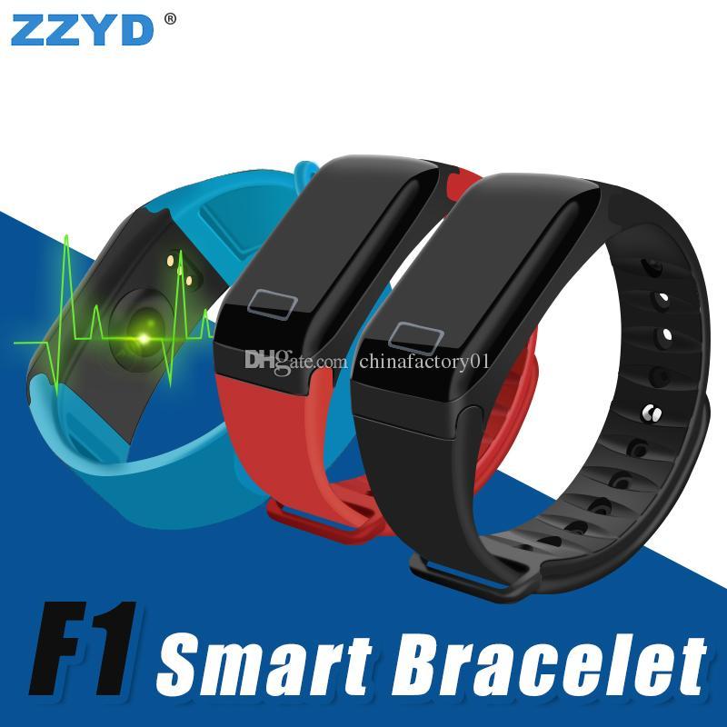 2d291f068865 Celulares Buenos Pulsera Inteligente Zzyd F1 Pulsera Impermeable Smartwatch  Pulsera De Frecuencia Cardíaca Reloj Deportivo Para Samsung S8 Android Ios  ...