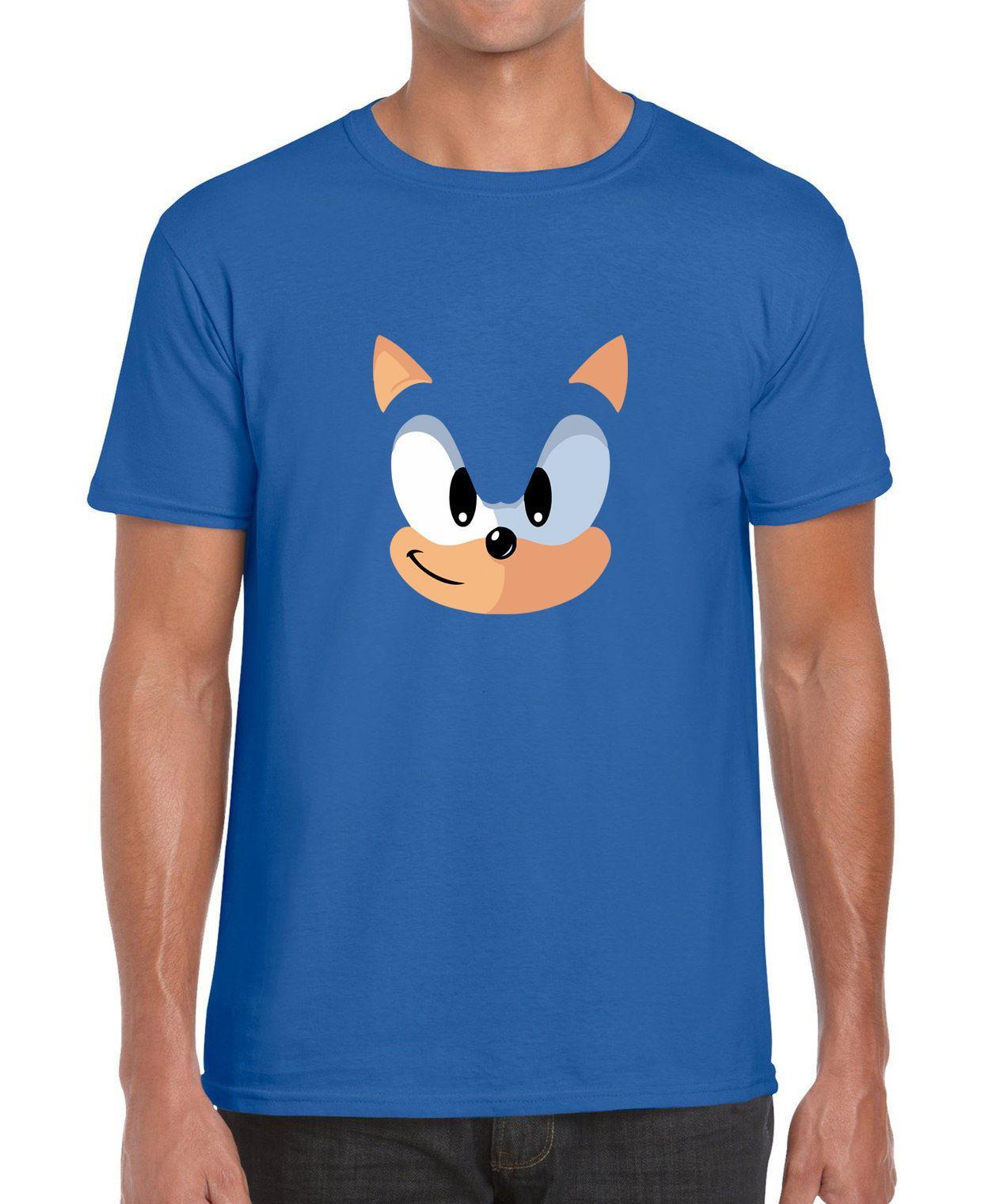 Grosshandel Sonic The Hedgehog Blue Face Videospiel Parodie Vintage