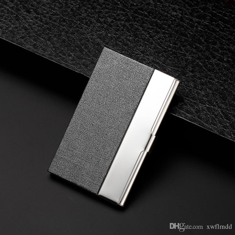 Creative business card case stainless steel Aluminum Holder Metal Box Cover Credit business card holder card metal Wallet men