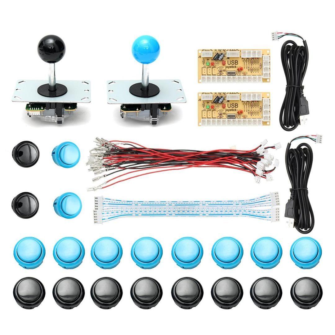 DIY Arcade Joystick Kit Parts USB Encoder Controller PC Joystick With 20  Push Button Cable For Arcade Game Console