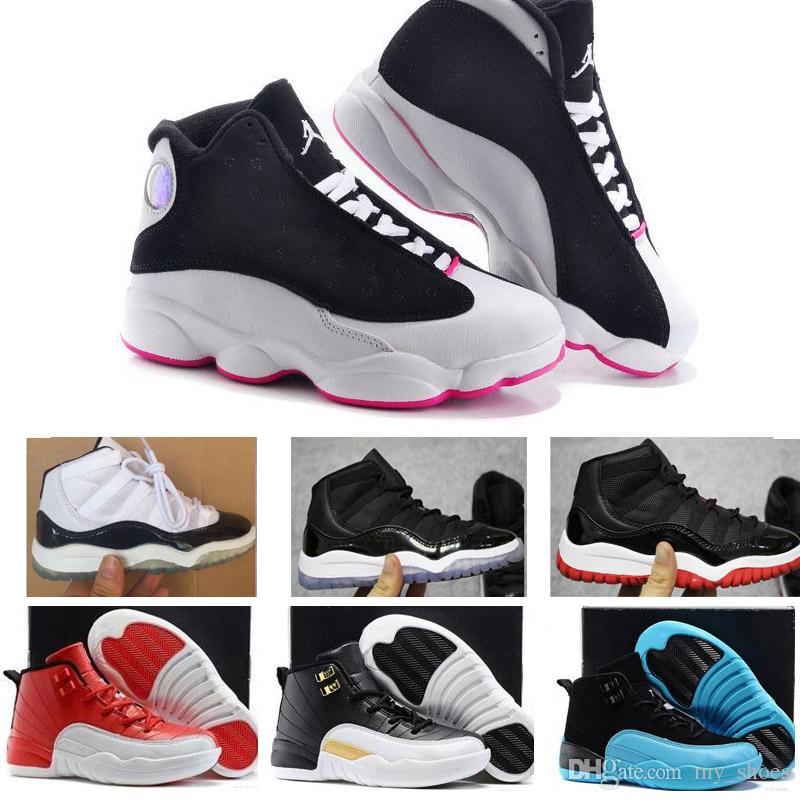 2019 2018 Cheap Kids Sneakers 11 12 13 Children Basketball