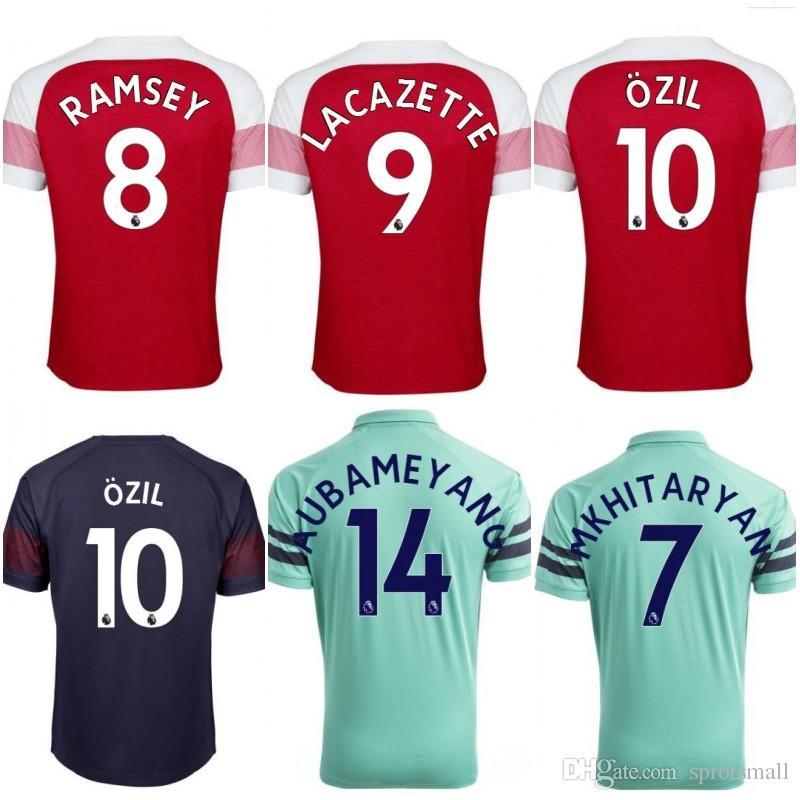 half off 8cdaa a7f4e get arsenal 14 aubameyang away soccer club jersey 3562c a60dd