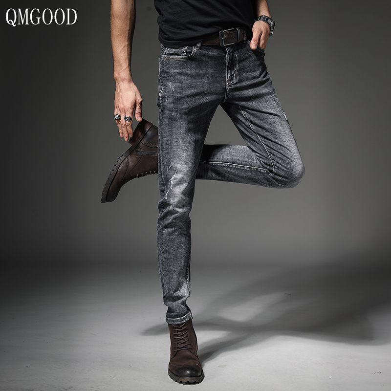 d9de4335f9 Wholesale High Quality Brand Jeans for Men Pants Korean Fashion Man ...