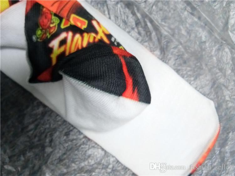 Calze da ragazza ragazzi Calze da pallacanestro Corsa Sport Cheerleaders Calze lunghe Calze stampate 3D adulti Stampa di un lato
