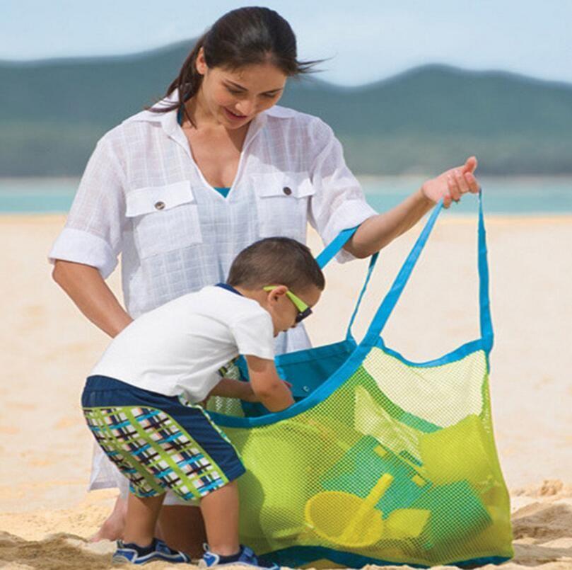 45*30*45cm Mesh Beach Bag Sand Toys Organizer Storage Bags Shell Pouch Receive Bag Children Sandboxes 2016 Boys Girls Baby Gifts wholesale