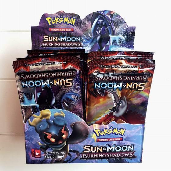 Poket Monster Giocare a carte collezionabili Giochi Sun Moon Edizione inglese Anime Pocket Monsters Cards Giocattoli bambini / lotto