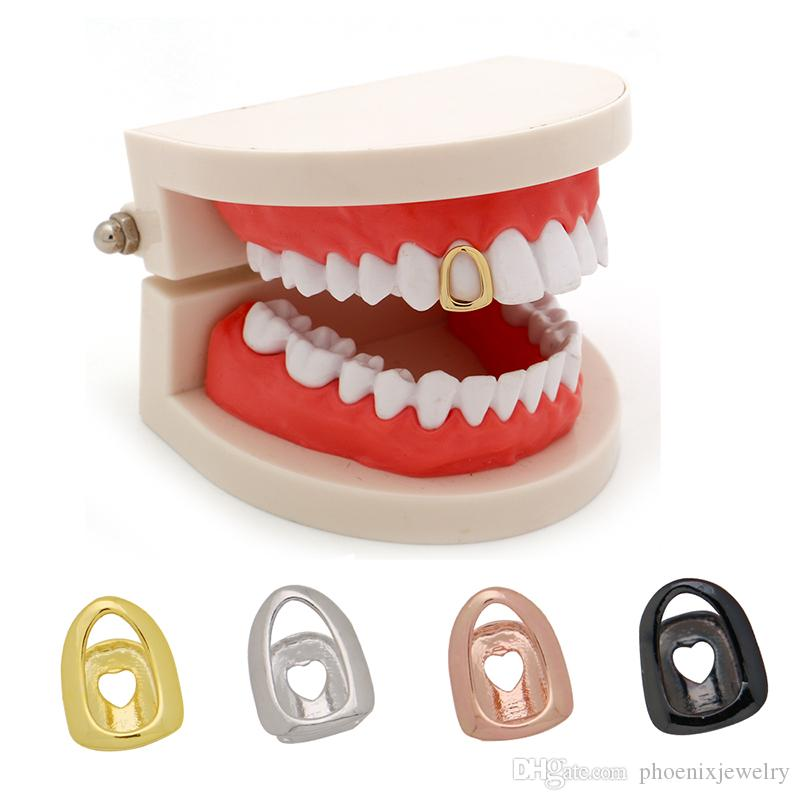 LuReen Open Face Plated Grills Hip Hop Single Top Teeth Grills Dental Tooth  Caps Halloween Gifts Jewelry Party UK 2019 From Phoenixjewelry de553791a6d9