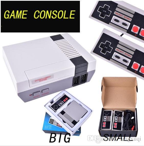 Venta caliente Mini consola de juegos de TV puede almacenar 500/620 juegos de video de mano para consolas de juegos NES con cajas al por menor OTH733 envío gratis