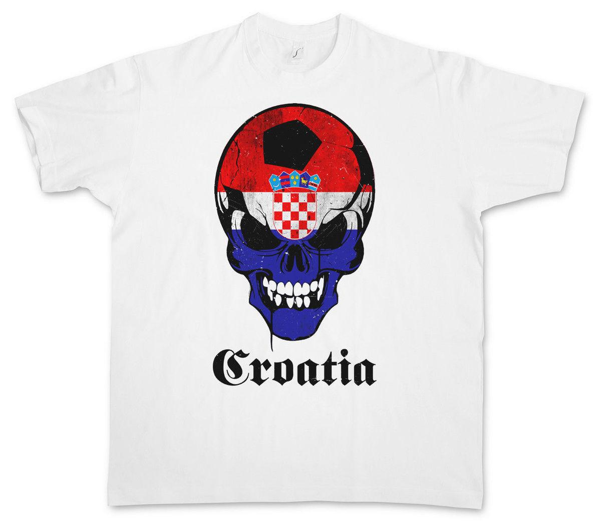 CROATIA FOOTBALLER FLAG T-shirt Flagge 2018 groot tops tee T Shirt Gift  More Size And Colors top tee
