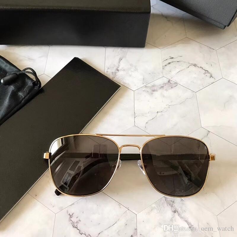 1915107182ccd Compre 2018 Homens Clássicos Óculos De Sol Estilo De Negócios De Condução  Óculos De Sol Da Moda Quadrado Polarizados Óculos De Sol De Vidro De Luxo  Quadro ...