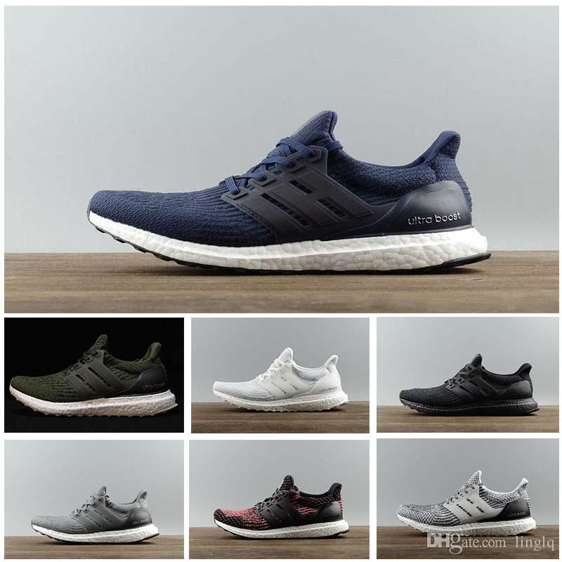 competitive price ec6f0 7dc4b Compre Adidas Ultra Boost 3.0 4.0 Triple Blanco Y Negro Primeknit Oreo Cny  Azul Gris Hombres Mujeres Zapatos Casuales Ultraboost Sneaker 36 47 A   31.16 Del ...