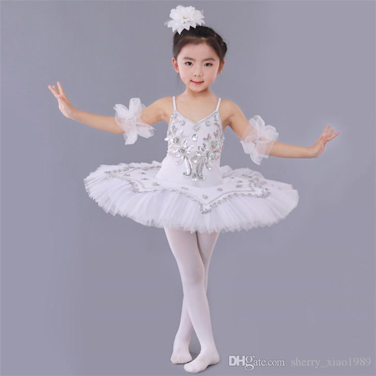 dfc2a7f5c 2019 Professional Ballet Costumes For Kids White Blue Pink Purple ...