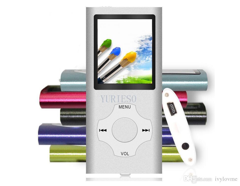 50 ADET Yüksek Kalite MP3 MP4 Çoklu Medya Video Oynatıcı Müzik Çalar LCD Ekran Desteği TF Kart olmadan 4G 8G 16G FM Radyo