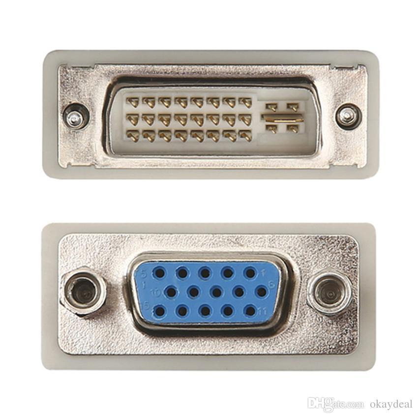 DVI DVI-I M 24+1 24+5 Pin to VGA VIDEO CONVERTER/ADAPTER hot sale