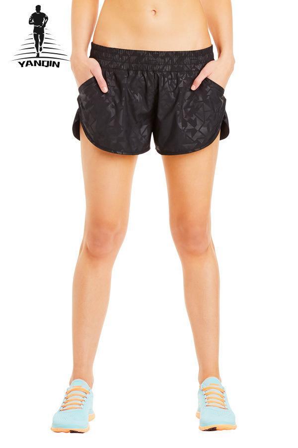 2019 YANQIN Outdoor Jogging Femme Sport Training Women Workout Shorts  Sports Running Shorts Ladies Gym Fitness Yoga From Xuelianguo 550b0c8691e