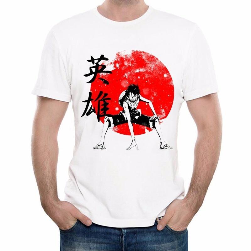 Compre Una Pieza Camiseta Moda Japonesa Anime Ropa Luffy Camiseta De  Algodón Para Hombre   Mujeres Marca Ropa Camisetas A  11.01 Del Phiking  f63aec5df911c