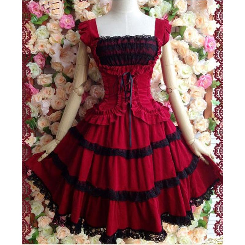 Lace Slim Princess Gothic Lolita Dress Custom Made Plus Size L22 ...