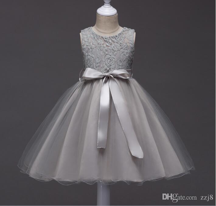 ff9426437 2019 One Piece Simple Children S Wedding Dresses Knee Length Lace ...
