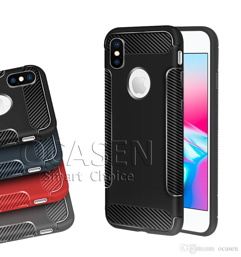 74dfb2739b2 High Quality Ultra Thin Carbon Fiber Soft TPU Cover Case For IPhone 6 7 8  Plus X XR XS MAX Samsung Note 9 S9 Phones Cases Silicone Phone Cases From  Ocasen