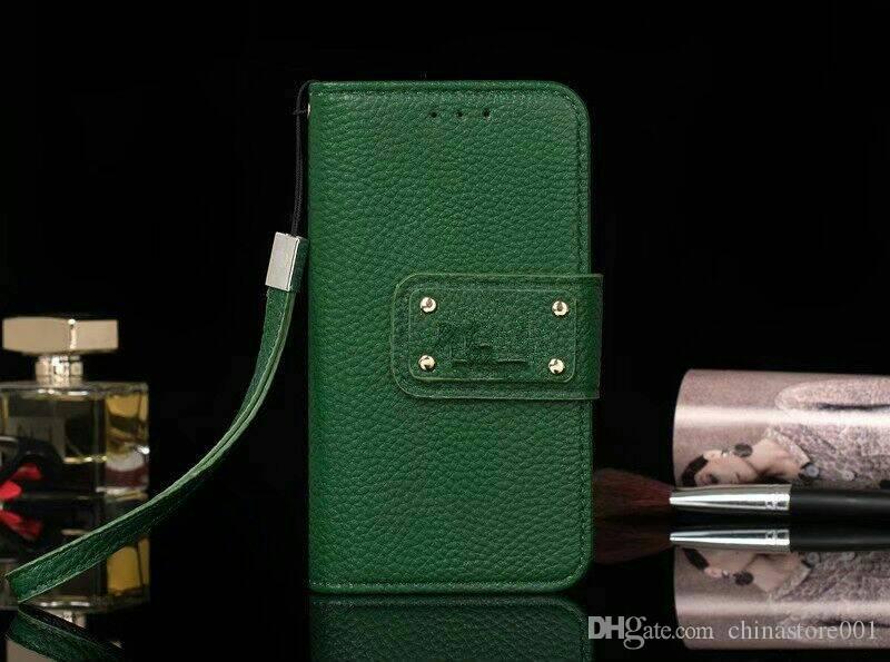 Custodie protettive in pelle pieno del telefono di marca di protezione con slot schede Samsung IPhone X 8 7 6 Plus Cover Stand alta qualità
