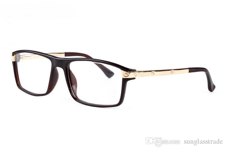 2018 the newest Brand Designer full frame Buffalo designer shiny gold frame Screw leg glasses with have box