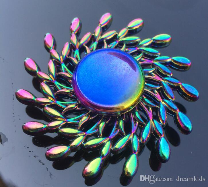 Радуга металл непоседа spinner звезда цветок череп дракон крыло руки Spinner для аутизма СДВГ дети взрослые антистрес игрушка EDC непоседа игрушка