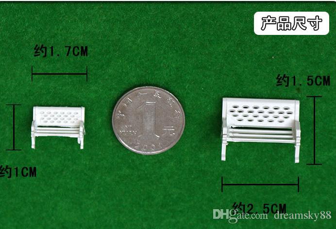 Mini Parque Branco Cadeiras Decoração Terrário Praia Artificial Micro Paisagem DIY Planta Acessórios Decoração Do Jardim De Fadas