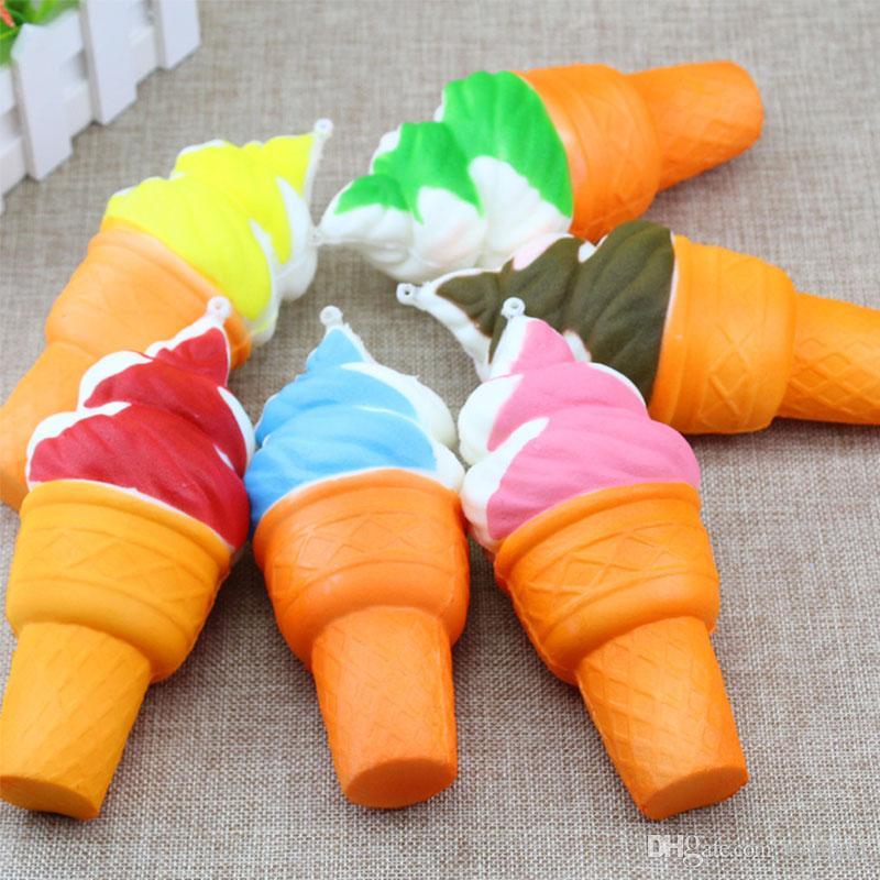 Torch Ice Cream PU Cute Lovely Cartoon Pendant Kawaii Squishy Simulation Bread Food Squishy Super Kid Toy Decompression Toys