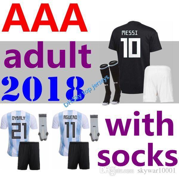 4ea10a6adbc 2019 2018 World Cup Adult Kit MESSI DYBALA Argentina Home Away Soccer  Jersey AGUERO DI MARIA HIGUAIN 2018 Children Football Shirts From  Skywar10001