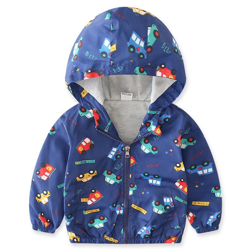 9655b94f4 Baby Boys Coat Jacket Child 2018 Hooded Jacket Coats For Boy Kids Outwear  Tops Autumn Winter Navy Print Small Cartoon Cars Cloth Jacket For Boy  Winter ...