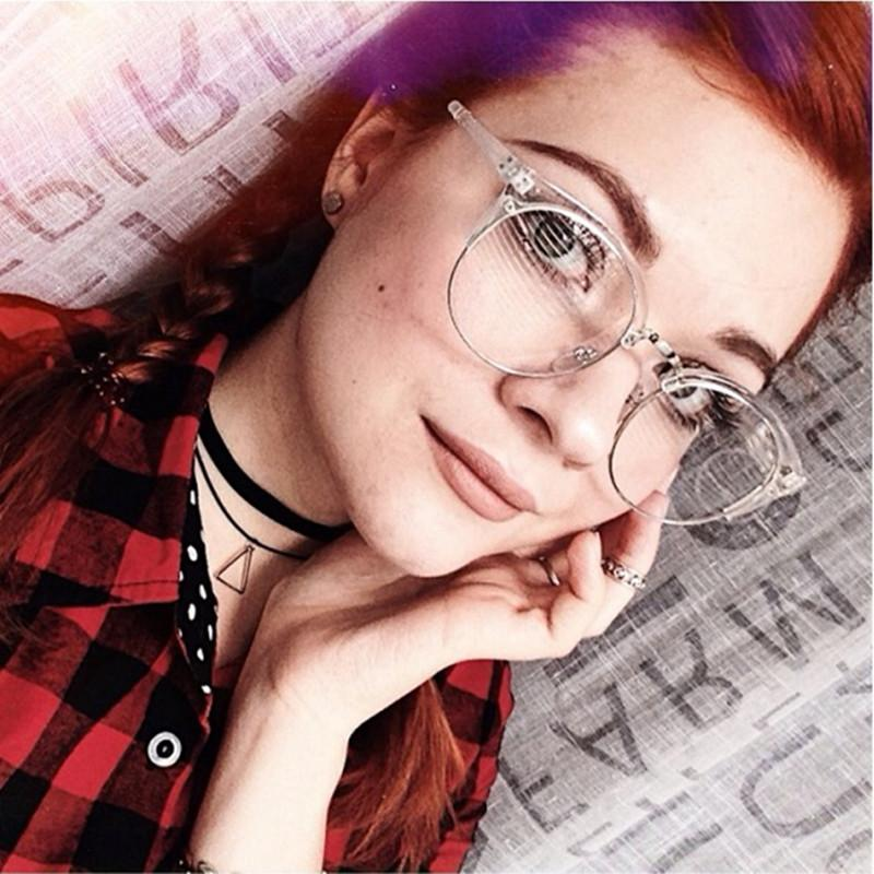 20d5bfe12e35 2019 Fashion Metal Half Frame Glasses Frame Retro Woman Men Reading ...