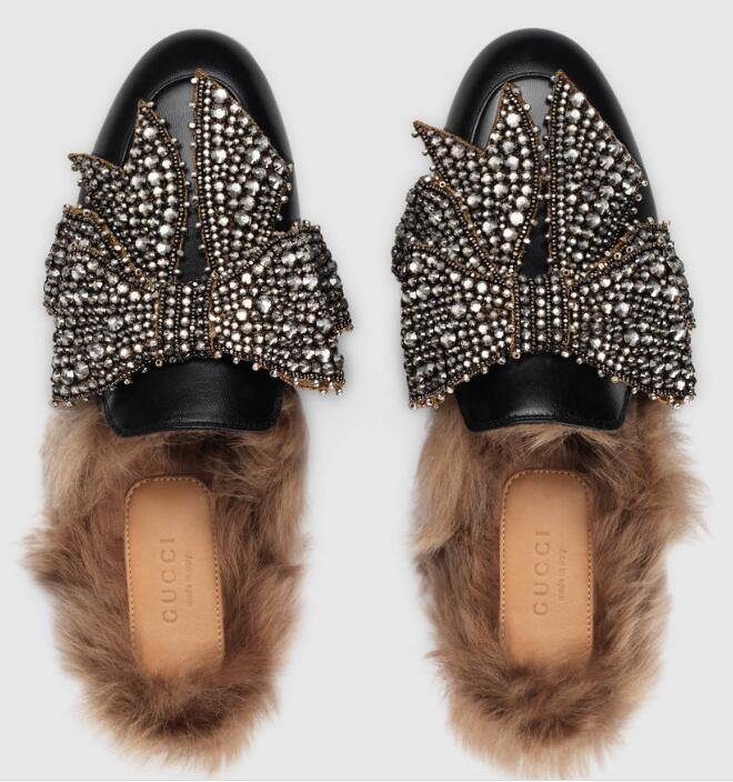 8287baefd95d 2019 Women Princetown Leather With Bow Slippers Mules Real Leather  Princetown Slipper Embroidered Pumps Sandals Slippers Loafers Shoes Loafers  Mens Boots ...