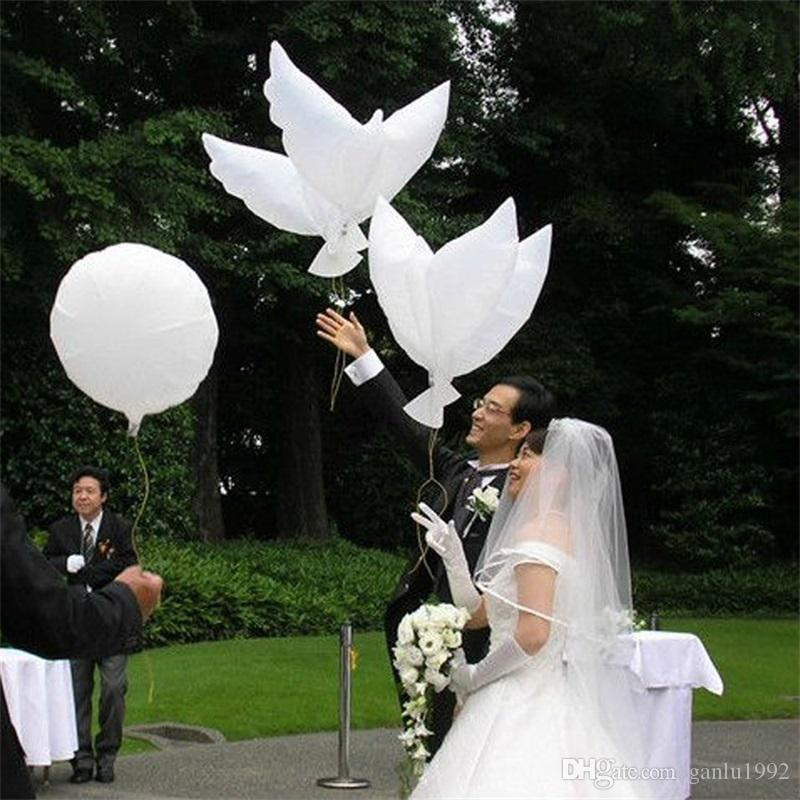 Hydrogen Balloons New White Peace Dove Inflation Balloon Wedding Birthday Party Decoration Hot Sale 1 75lq C