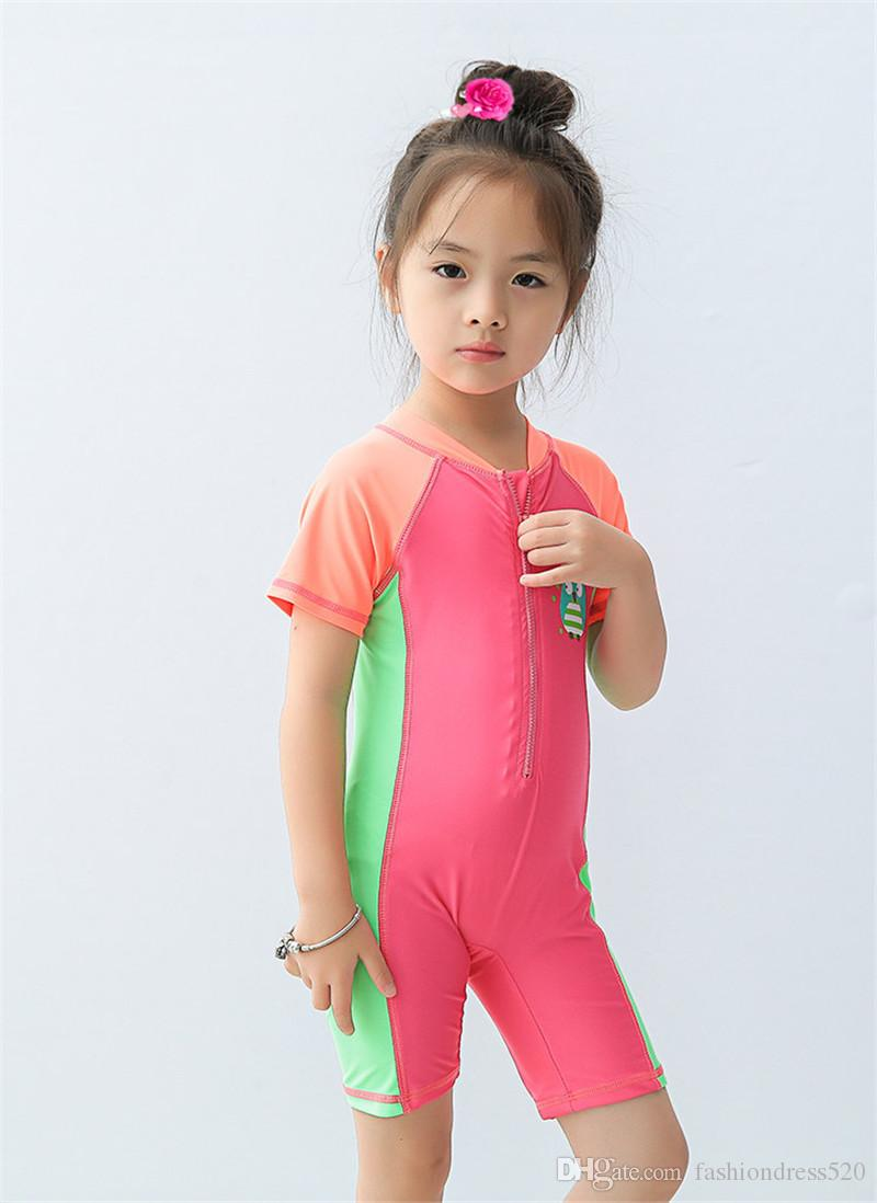 9 Styles Boys Girls Swimwear Brand Summer Baby Kids Swimsuits with Cap Swimming Clothes Cute Bathing Suits 0-10Years
