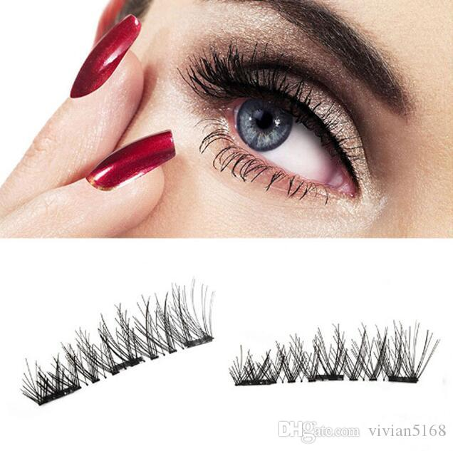 3 Magnetic Eye Lashes 3d Synthetic Reusable False Magnet Eyelashes