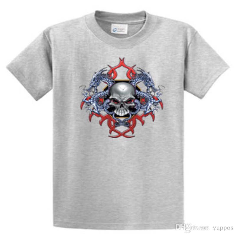 2113deac Fashion 2018 SummerSkull Dragons Mens Biker Graphic Tees Reg To Big And  Tall Sizes Port And Company Summer Style T Shirt Mens Dress Shirt Patriotic  T Shirts ...