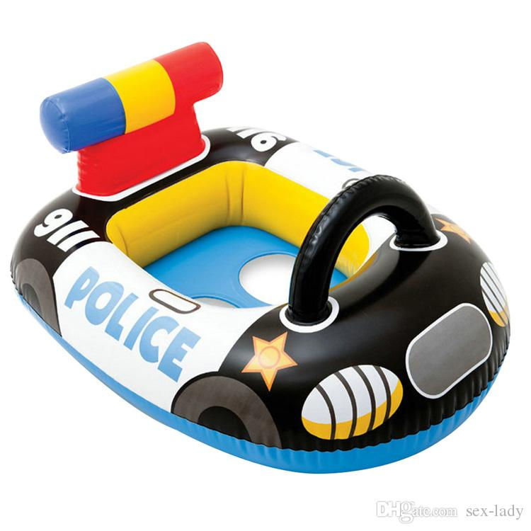 Kids Swimming Rings Baby Inflatable Swim Ring Floating Aid Lifebuoy Cute Pool Float Child Police Cars aircraft Fire engine Toys Seat Boat