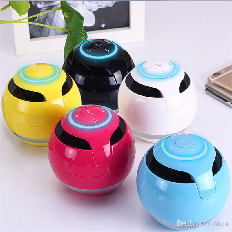 Bluetooth Speaker Round Boombox Subwoofer Mini Portable Wireless Handsfree Calling Super Bass Speakers with Mic for Phone Audio Player