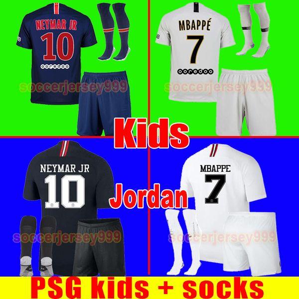be0ca550a PSG Soccer Jersey Kids Kit 2019 Paris Third AIR NEYMAR JR MBAPPE CAVANI  VERRATTI Saint Germain Jerseys 18 19 Football Shirt Uniforms Maillot Soccer  Jersey ...